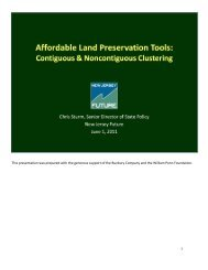 Notes on Affordable Land Preservation Tools 6-1-11 - New Jersey ...
