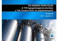 TVK Éves Jelentés 2010