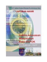 LAPORAN AKHIR - Bappeda Depok - Pemerintah Kota Depok