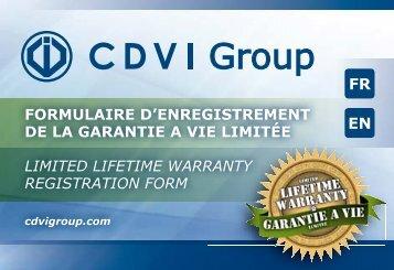 limited lifetime warranty registration form formulaire d ... - CDVI