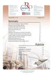 Agenzia n. 18 dell'11/05/2012 - Consiglio regionale del Piemonte