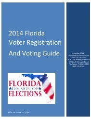 2014 Voter Registration and Voting Guide - Florida Division of ...