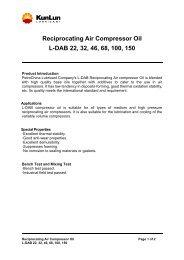 Reciprocating Air Compressor Oil L-DAB 22, 32, 46, 68 ... - premier 6