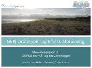 GEPKA - Formål og forventninger - EPJ-Observatoriet