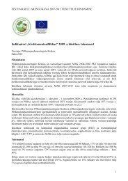 Uuringu kokkuvõte 2009 - Põllumajandusuuringute Keskus ...