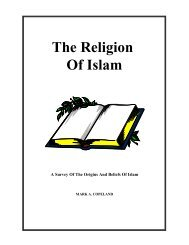 The Religion Of Islam - Executable Outlines