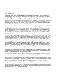 Pastoral Letter - UD.. - University Congregational United Church of ...
