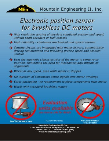 Electronic position sensor for brushless DC motors Electronic ...