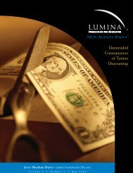 Unintended Consequences of Tuition Discounting - Lumina ...