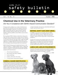 safety bulletin - AVMA PLIT