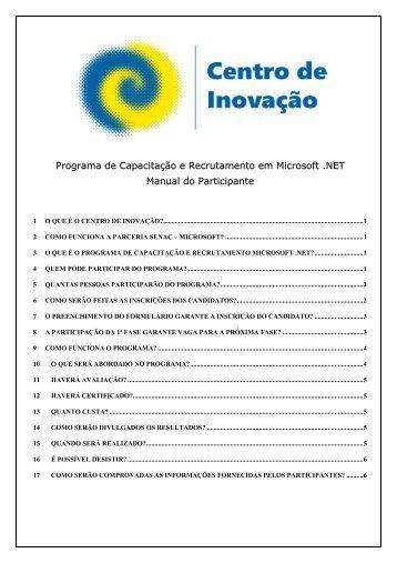 Programa de Capacitação e Recrutamento em ... - Senac São Paulo