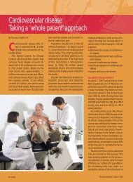 Cardiovascular disease: Taking a 'whole patient' approach - CECity