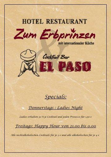 Speisekarte (PDF) - El Paso