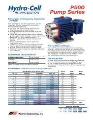 P500 Pump Series - BBC Pump and Equipment