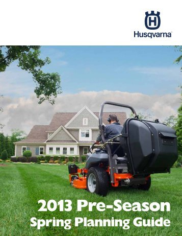 2013 Pre-Season - Husqvarna Group