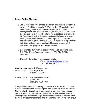 senior project manager o job description we are looking for an practice director job description - Practice Director Job Description
