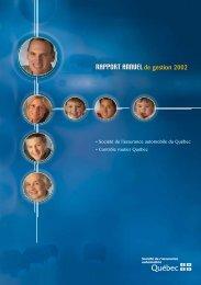 Rapport annuel de gestion 2002 - Société de l'assurance ...