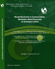 RECENT RESEARCHES in COMMUNICATIONS, ELECTRONICS ...