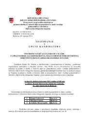 T E S T I R A N J E   I U P U T E   K A N D I D A T I M A - Bjelovarsko ...