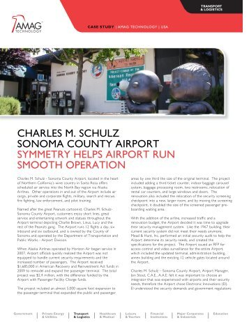CHARLES M. SCHULZ SONOMA COUNTY AIRPORT ... - AMAG