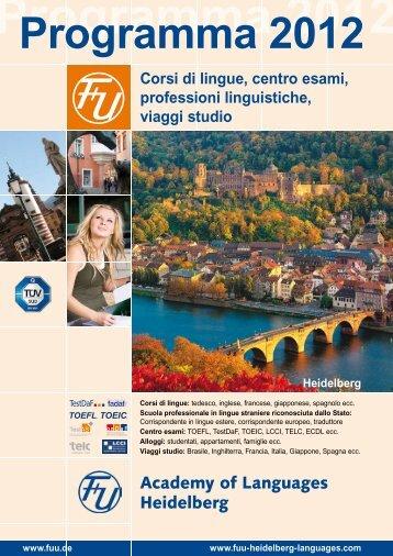 Programma 2012 Heidelberg - Learn German in Germany