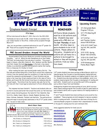 TWISTER TIMES - Prairie Winds Elementary