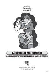 Dossier - Centri di Preparazione al Matrimonio