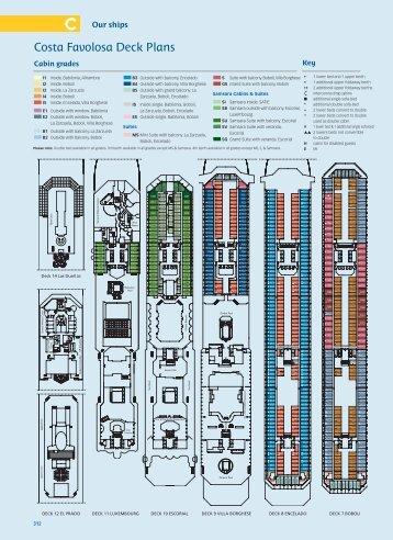 Costa Favolosa Deck Plans