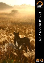 A nnual Report 2009 - African Lion & Environmental Research Trust