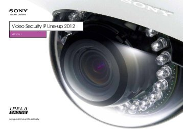 Sony Video Security Line-up 2012 - Use-IP