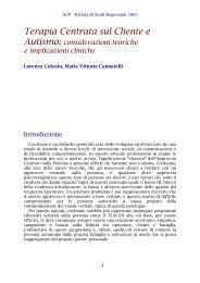 Terapia Centrata sul Cliente e Autismo: considerazioni ... - ACP