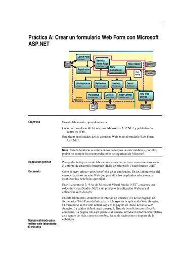 Práctica A: Crear un formulario Web Form con Microsoft ... - Willy .Net