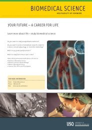 biomedical Science - University of Southern Queensland
