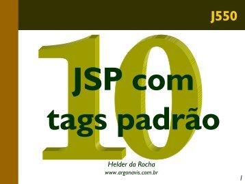 JSP com JavaBeans e páginas compostas