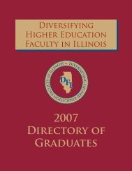 2007 Directory of Graduates - IBHE