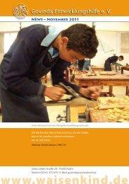 Govinda Entwicklungshilfe e.V. Newsletter - Oktober 2011