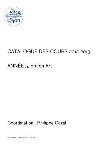 Téléchargez le catalogue complet des cours - (ENSA) Dijon