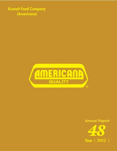 Annual Report 2012 - Americana Group