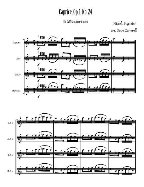 Caprice, Op. 1, No. 24