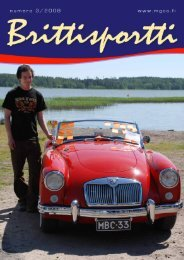 Brittisportti 3 2008 painoon - MG Car Club Finland Ry