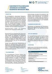 Produktblatt (.pdf) - M/O/T - School of Management, Organizational ...