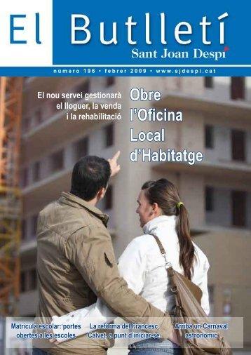 Obre l'Oficina Local d'Habitatge - Ajuntament de Sant Joan Despí