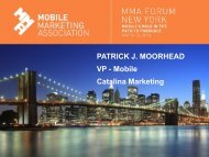 PATRICK J. MOORHEAD VP - Mobile Catalina Marketing
