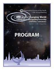 PROGRAM - Astronomical Society of the Pacific