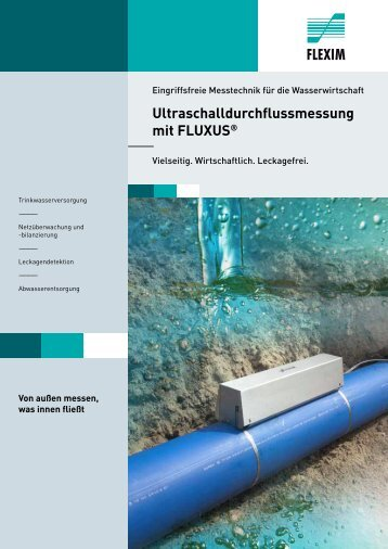 Ultraschalldurchflussmessung mit FLUXUS® - Flexim