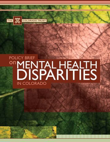 Health policy briefing health disparity in
