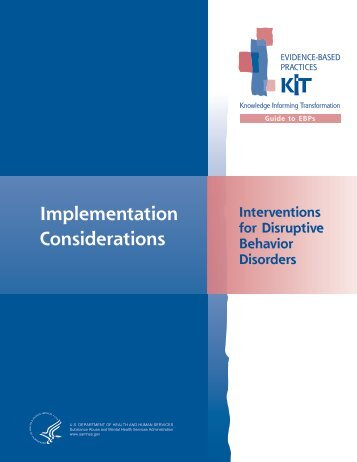 Implementation Considerations - SAMHSA Store - Substance Abuse ...