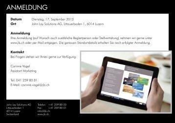 ANMELDUNG - John Lay Solutions