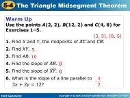 5-4 The Triangle Midsegment Theorem - Keller ISD Schools