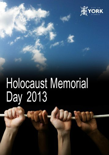 Holocaust Memorial Day 2013 - Sinai Latest News